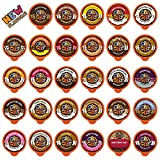Flavored Coffee in Single Serve Coffee Pods - Flavor Coffee Variety Pack for Keurig K Cups Machine from Crazy Cups, 40 Count