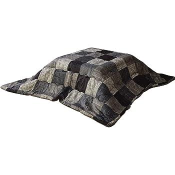 イケヒコ こたつ布団 正方形 コルク 約190×190cm グレー チェック #5526009