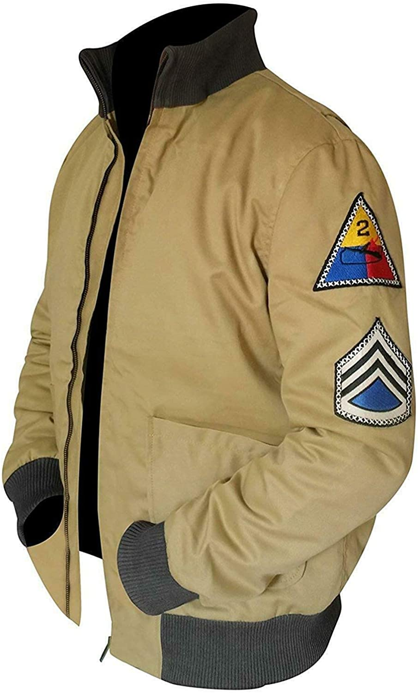 Men's Fury Brad Pitt Army Tanker Brand new Bomber Luxury goods Cotton Khaki Color Pilot