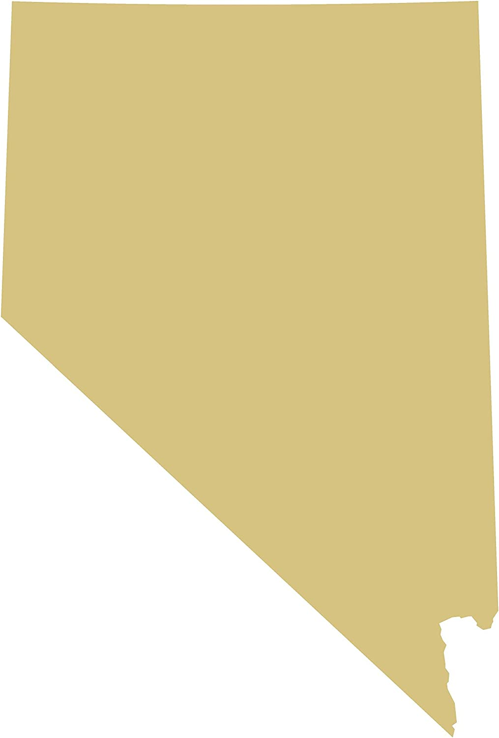 Nevada Cutout Unfinished Wood State Home Decor Everyday Sports Door Hanger MDF Shape Canvas Style 1 (6