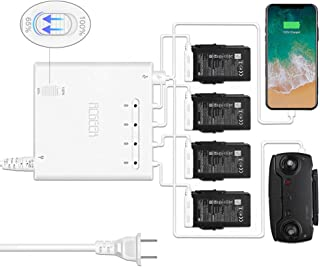 RCGEEK Compatible with Mavic Air Multi Battery Charger Charging Hub 6-in-1 with 65% Battery Power Intelligent Storage Mode Rapid Parallel Charger Compatible with 4 Batteries of DJI Mavic AIR
