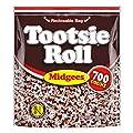 Tootsie Roll Chocolatey Twist Midgees Resealable Standup Bag, Peanut Free, Gluten Free original, 4.86 LB