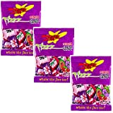 Zotz Italian Hard Candy With Fizzy Powder Inside - Three Pack - Cherry, Grape, And Watermelon - Three 2.8 oz Retail Packs