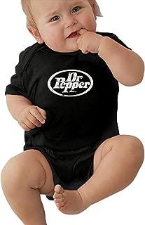 Dr Pepper 100% Cotton Jersey Lap Shoulder Short Sleeve Bodysuit Black