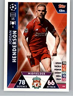9d07a733d74 2018-19 Topps UEFA Champions League Match Attax  208 Jordan Henderson Liverpool  FC Official
