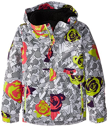 686 Mädchen Jacke Wendy Insulated Jacket, Mädchen, Fuchsia Blumenmuster, Medium