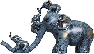 Grand éléphant chanceux Ornement Jardin Décoration Extérieur rustique Animal Statue