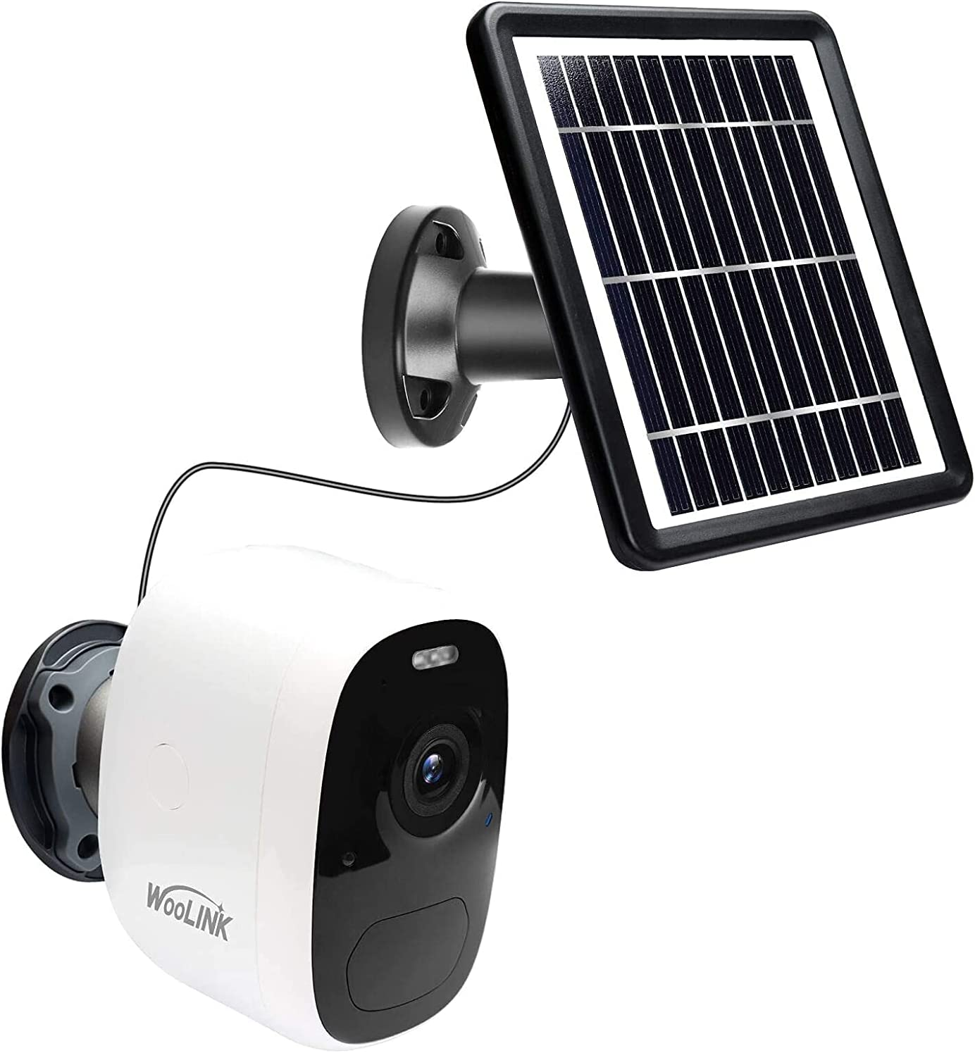WooLink Solar Security Camera Outdoor Wireless WiFi Solar Powered Surveillance Cameras for Home System ,1080P,Night Vision, 2-Way Audio, IP66 (TF Card Included)