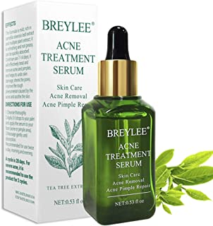 Acne Treatment Serum, Breylee Tea Tree Clear Skin Serum for Clearing Severe Acne, Breakout, Remover Pimple and Repair Skin (15ml,0.53oz)
