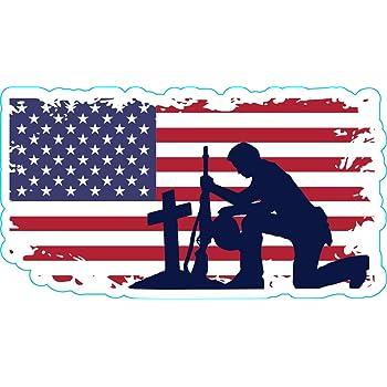WickedGoodz American Flag Veteran Vinyl Window Transfer Perfect Veteran Gift Military Veteran Bumper Sticker