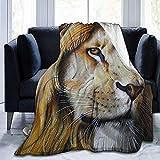 alice-shop Lion Painting Ultra-Soft Cozy Micro Fleece Blanket, Ideal para Viajes...