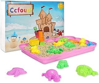 砂遊びおもちゃ 砂場セット 砂セット 室内砂場 砂粘土おもちゃ 手を汚さない 22型抜き 付きサンドボックス (原色)