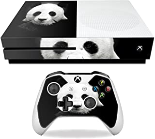 MightySkins Skin Compatible with Microsoft Xbox One S - Panda   Protective, Durable, and Unique Vinyl Decal wrap Cover   Easy to Apply, Remove, and Change Styles   Made in The USA