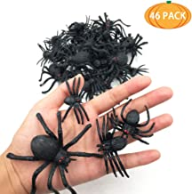 kockuu 46pcs Realistic Spider Toys Fake Spider Prank Prop Toys and Spider Rings for Halloween Party Favors and Decorations