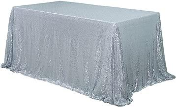 BalsaCircle 60x102 Sequin Rectangular Tablecloth - Silver