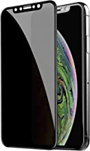 TECHO Privacy Screen Protector Compatible with iPhone 11 Pro Max/iPhone Xs Max (6.5 inch), [Full Coverage][Edge to Edge][Super Clear] Anti-Spy 9H Hardness Tempered Glass Screen Protector (2019)