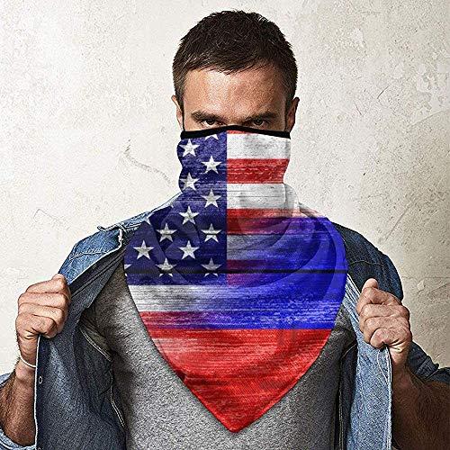 WCUTE USA Russie Drapeau Magique Chapeaux Foulard Bandanas Moto Bandeaux Multifonctionnel Tube Écharpe Cou Guêtre Chapeaux pour la Pêche