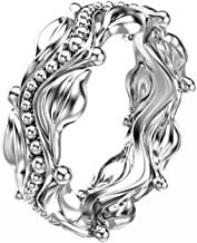 MILIMIEYIK Crystal Rings for Women Plating Platinum Ring Women's Wedding Proposal Birthday Gifts Diamond Band Bands