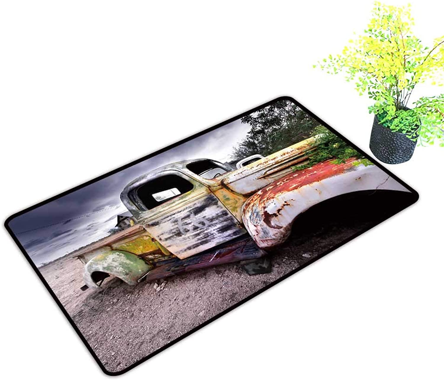 Entrance Door Mat Large Depositphotos Stock rusti Truck Dress Up Your Doorway W39 x H19 INCH