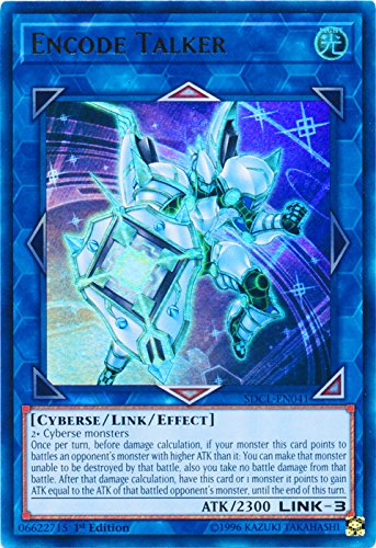 yu-gi-oh Encode Talker - SDCL-EN041 - Ultra Rare - 1st Edition - Structure Deck: Cyberse Link (1st Edition)
