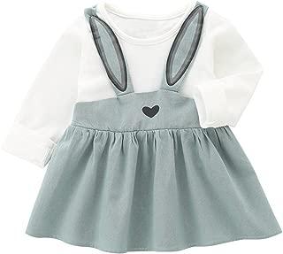 Wiwsi Baby Girls Princess Rabbit Bunny Bandage Design Party Mini Dress Clothes