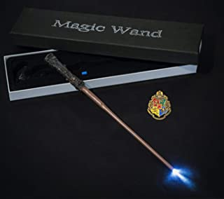 Yalla Baby Magic Illuminating Wand with Badge and Box - Costume Accessories for Adults Kids Boys Girls and Teenagers