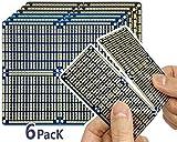 Electro Cookie - Placa de Circuito Impreso Snappable PCB con rieles de alimentación para Arduino y Electrónica, chapada en Oro, 97 * 89 mm (6 Unidades, 3 Azul + 3 Negro)