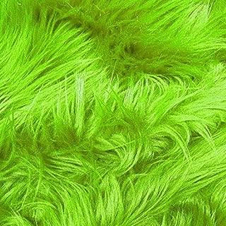 FabricLA Shaggy Faux Fake Fur Fabric - Half Yard (Lime)