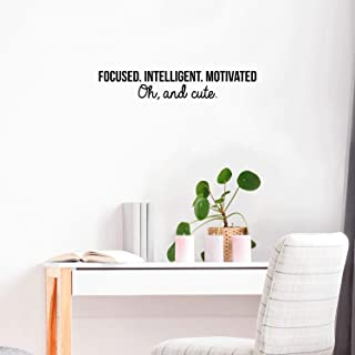 Vinyl Wall Art Decal - Focused Intelligent Motivated and Cute - 5.5