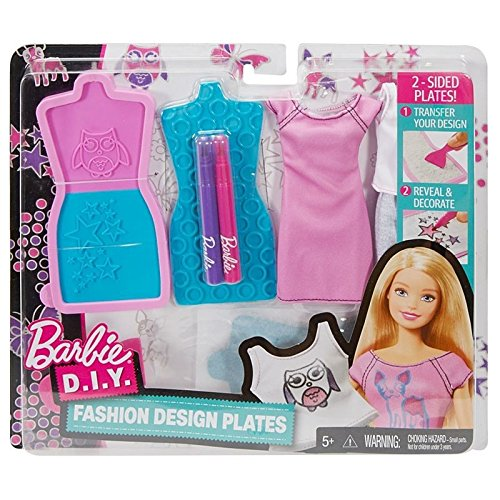 Buy Barbie D I Y Fashion Design Plates 1 Toys R Us