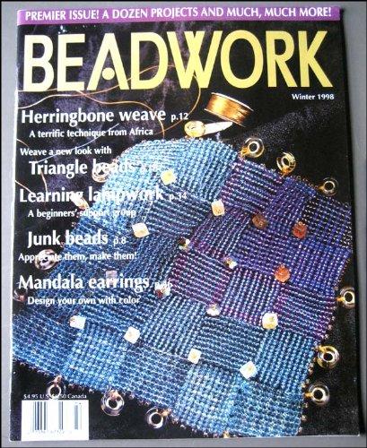 Beadwork Magazine (Winter 1998): Herringbone Weave; Triangle Bead Bracelets; Learning Lampwork; Junk Beads; Mandala Earrings; Chopstick Toppers; Bead Beads; Hip Hemp Neckwear;
