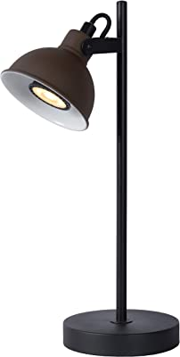 Lucide 45573/01/97 Lampe de Table, Acier, GU10, 35 W, Rouille, Noir