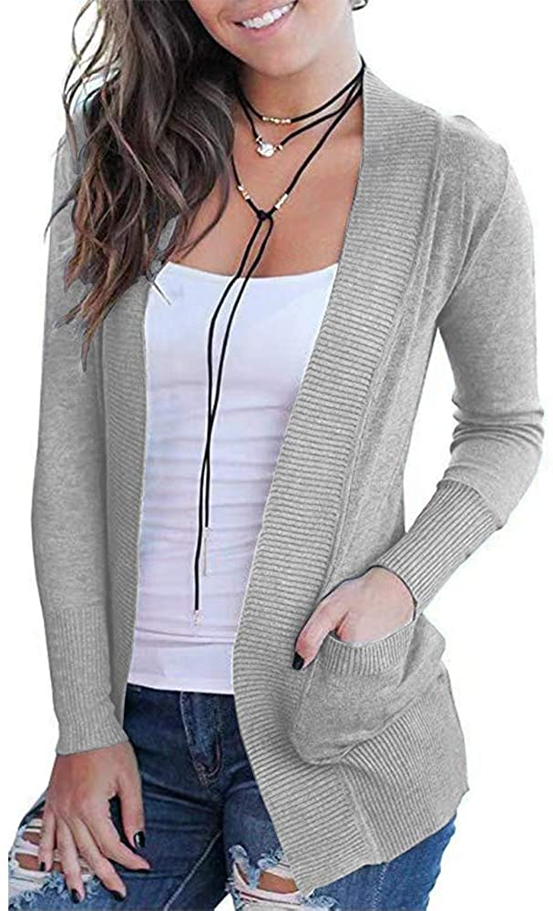 VOIANLIMO Women's Open Front Casual wholesale Classic Sleeve Long Swe Knit Max 60% OFF