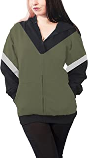 Legend of Zelda Hoodie Crest of Hyrule Official Womens Slim Fit Zipped Size L Green