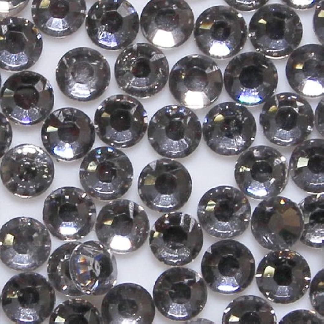 全部失プロペラ高品質 アクリルストーン ラインストーン ラウンドフラット 約1000粒入り 3mm ブラックダイヤモンド