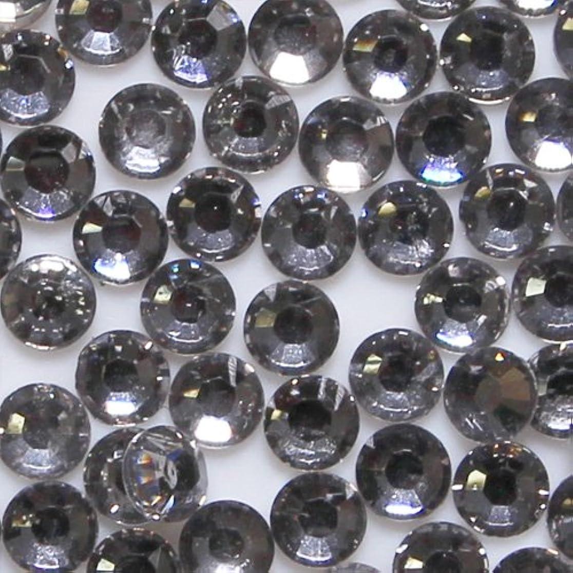 フィルタ感じ魅惑的な高品質 アクリルストーン ラインストーン ラウンドフラット 約1000粒入り 4mm ブラックダイヤモンド