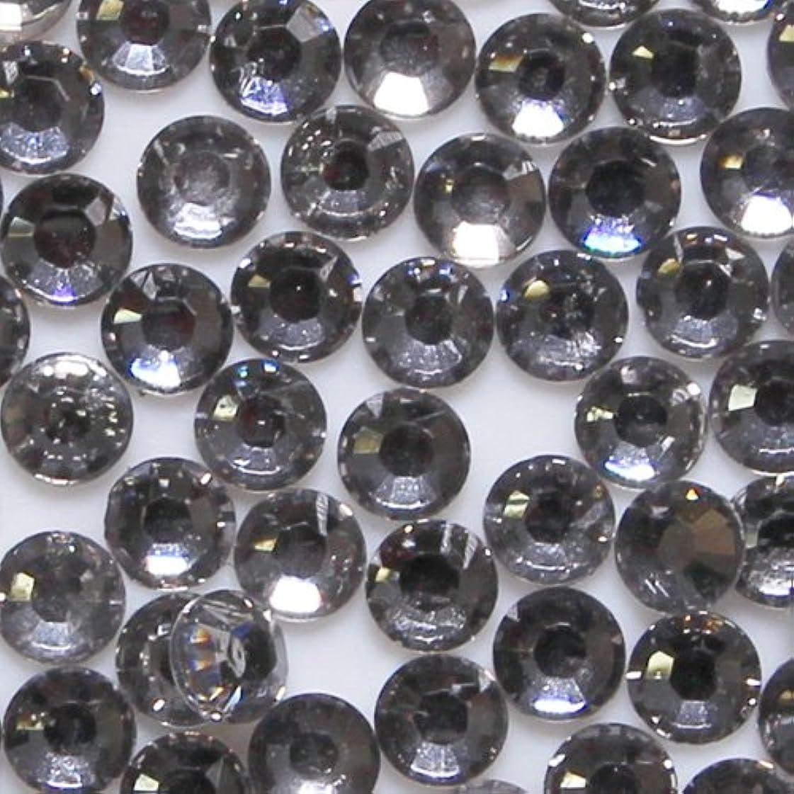 メロドラマショルダーマインドフル高品質 アクリルストーン ラインストーン ラウンドフラット 約1000粒入り 4mm ブラックダイヤモンド