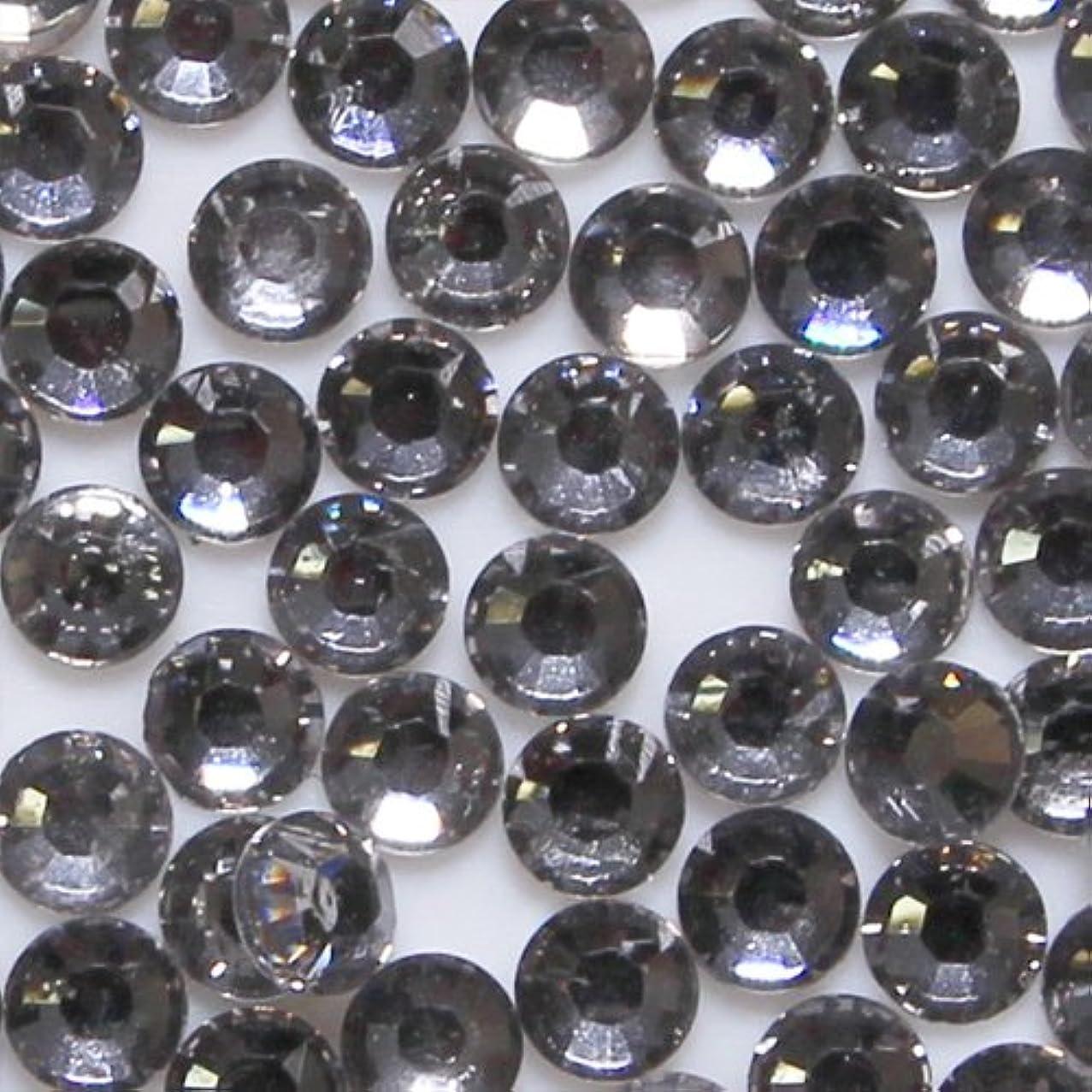 考古学カプセル能力高品質 アクリルストーン ラインストーン ラウンドフラット 約1000粒入り 2mm ブラックダイヤモンド