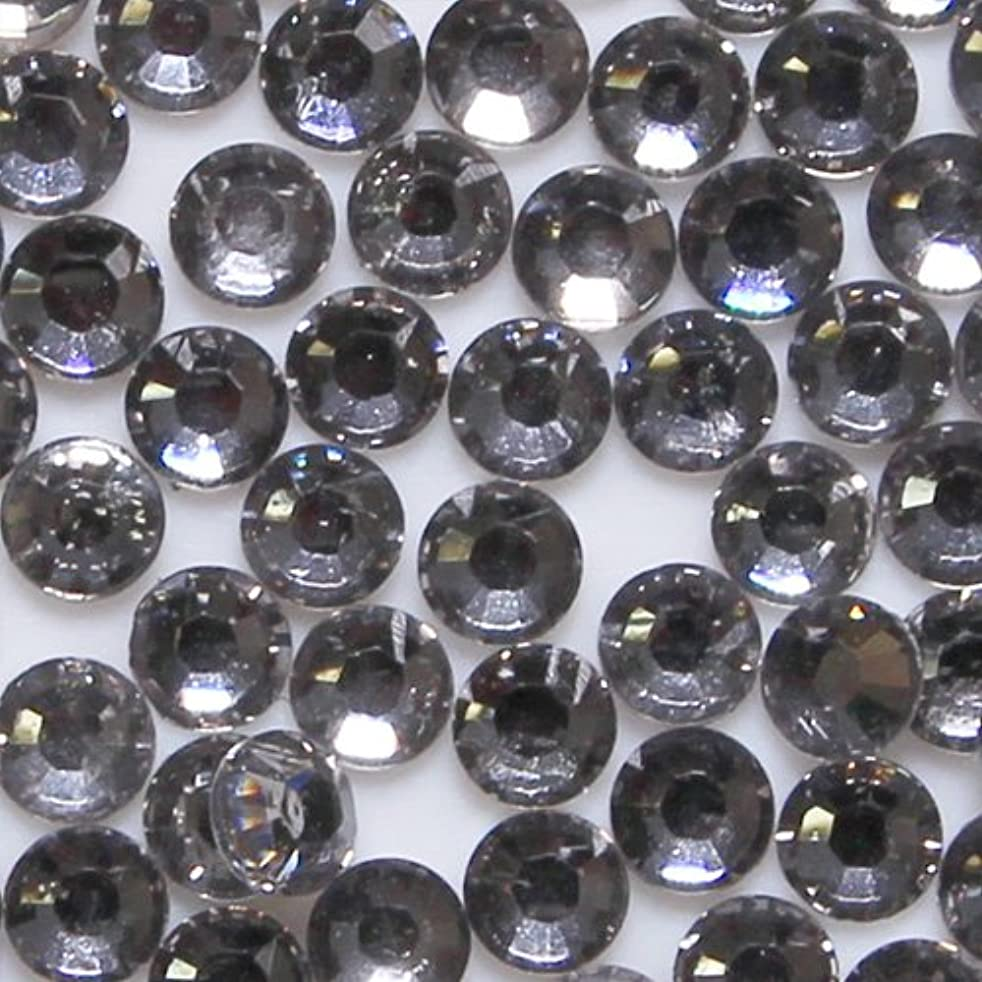 南まぶしさ聖域高品質 アクリルストーン ラインストーン ラウンドフラット 約1000粒入り 4mm ブラックダイヤモンド