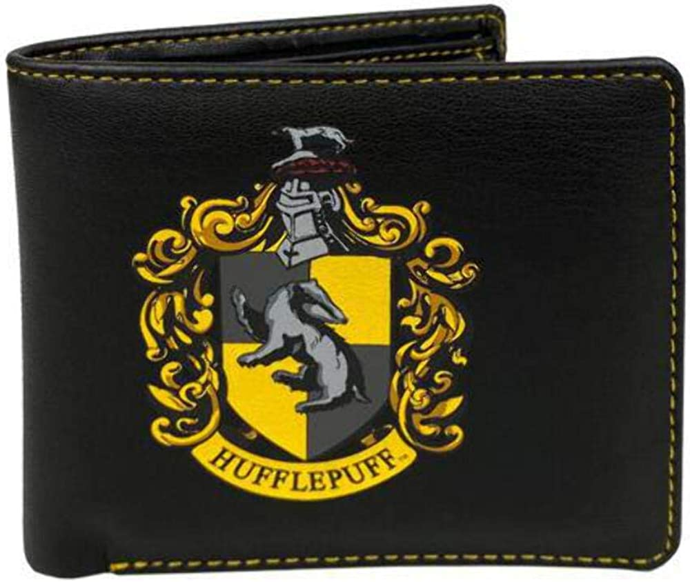 Harry Potter Hufflepuff Wallet (One Size) (Black/Yellow)