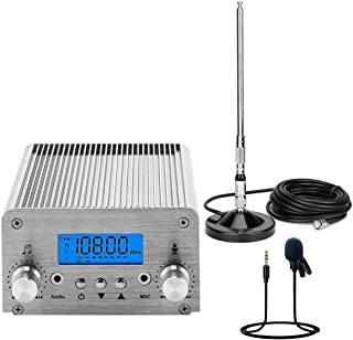 $149 » FM Transmitter for Church, Aupabu 15W Long Range Wireless Stereo Broadcast with Antenna Lavalier Microphone for Drive in M...