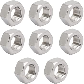 uxcell 10pcs M6 x 0.75mm Pitch Metric Fine Thread 304 Stainless Steel Hex Nuts