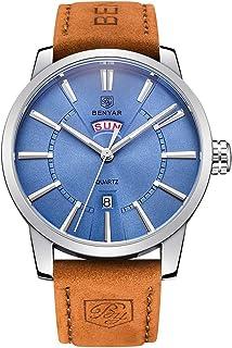 BENYAR Classic Fashion Elegant Watch Casual Sport Leather Band Wrist Mens Watches