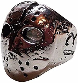 Friday The 13th Jason Mask Stainless Steel Cosplay Metal Ring - Multiple Sizes