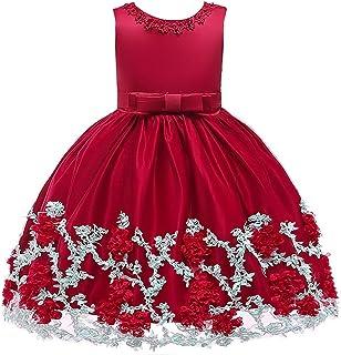 YLQ お正月衣装、子供服、クリスマスプリンセスドレス、女の子服、子供服 (色 : 赤, サイズ : 120cm)