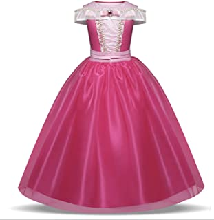 Yalla Baby Girls Dress Costume for Kids Girls Princess Dress Up - 110-150cm 5-12 Years Birthday Party Cosplay Outfits