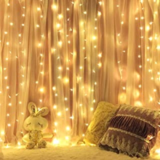 Home Lighting 600 LED Window Curtain String Lights for Home Bedroom Christmas Decoration, Warm White
