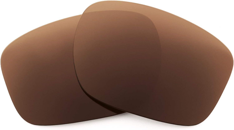 Revant Verres de Rechange pour Oakley Sliver F - Compatibles avec les Lunettes de Soleil Oakley Sliver F Marron Foncé - Polarisés