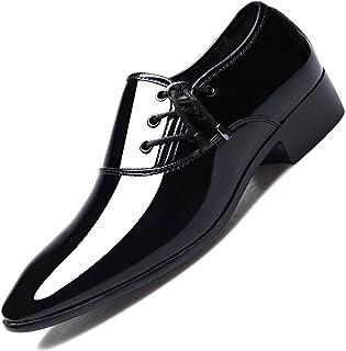 N\C Zapatos de cuero puntiagudos de los hombres de negocios formales zapatos casuales brillantes de los hombres