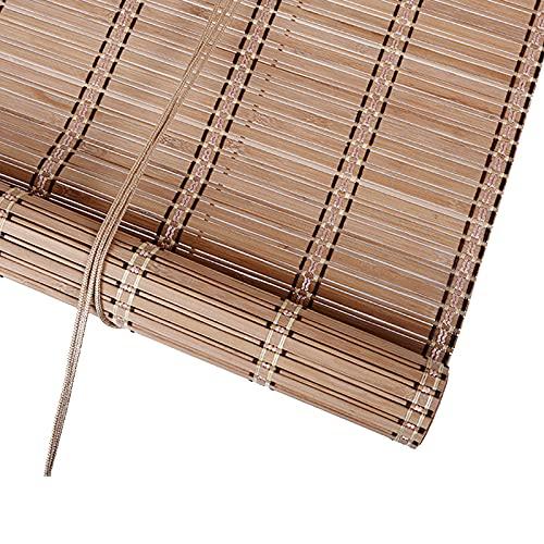 Persiana Veneciana de Bambú Interior,Estor Enrollable de Bambú Natural,Cortina de Bambú,Estores para Ventana de Madera Tipo Gancho,Toldo Vertical para Ventanas,Personalizable (W120xH155cm/47x61in)